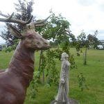Deer & Lady Statues